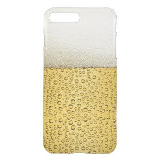 Lustiges Blasen-Bier-Glas-Gold iPhone 8 Plus/7 Plus Hülle