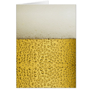 Lustiges Blasen-Bier-Glas-Gold Mitteilungskarte