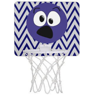 Lustiges blaues albernes mini basketball ring