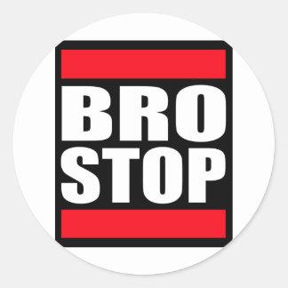 Lustiges BROSTOP AntiBrostep Dubstep Runde Sticker