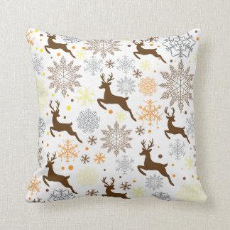 Lustiges Brown-Weihnachtsmuster Kissen