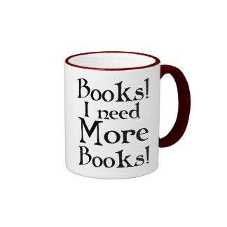 Lustiges Buch-Süchtig-Tasse Ringer Tasse