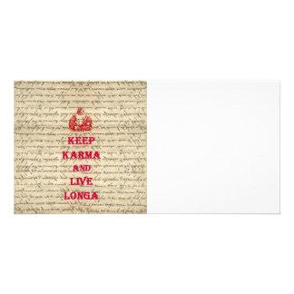 Lustiges Buddha-Sprichwort Personalisierte Photo Karte