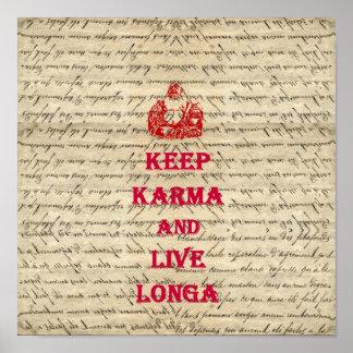 Lustiges Buddha-Sprichwort Poster