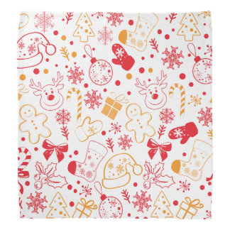 Lustiges buntes Christmassy Muster Halstuch