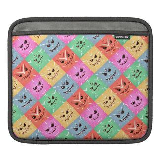 Lustiges buntes unverschämtes Gesichts-Muster Sleeve Für iPads
