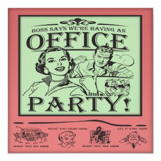 Lustiges Büro-Party Quadratische 13,3 Cm Einladungskarte