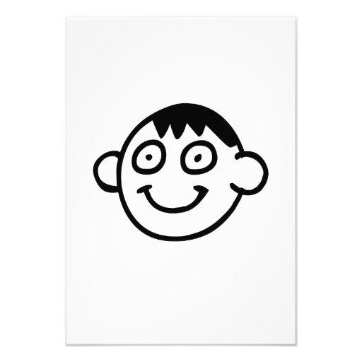 Lustiges Cartoon-Gesicht Individuelle Einladung