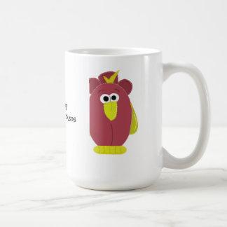 Lustiges Cartoon-Huhn mit Sprichwort Kaffeetasse