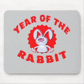 Lustiges Cartoon-Kaninchen-Jahr der Mousepad