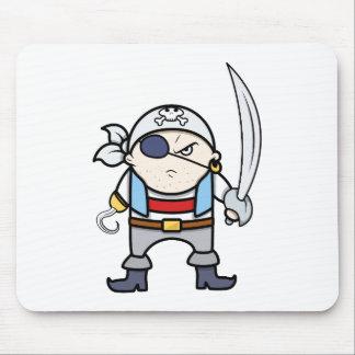 Lustiges Cartoon-Piraten-Kind Mousepad