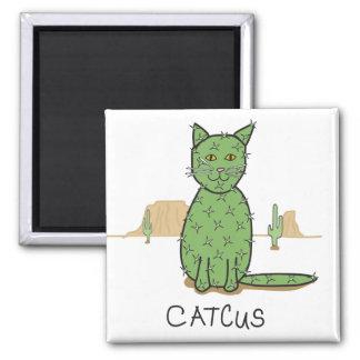 """Lustiges """"Catcus"""" Kaktus-Zeichnen Quadratischer Magnet"""