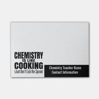 Lustiges Chemie-Lehrer-Zitat Post-it Haftnotiz