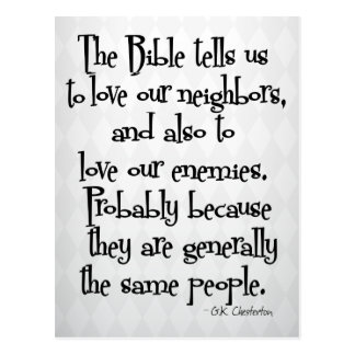 Lustiges christliches religiöses Zitat GK Postkarte