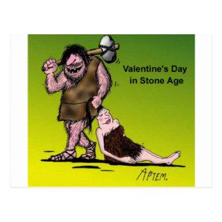 Lustiges Comic des Valentines Tages Postkarte