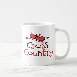 Lustiges © Cross Country-Läufer-Schuh-Symbol Tasse