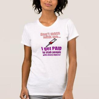 Lustiges die Krankenschwester-Shirt der Frauen T-Shirt