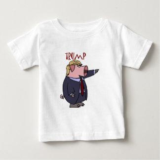 Lustiges Donald- Trumpschwein-politischer Cartoon T-Shirts