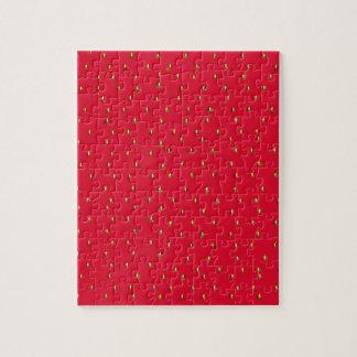 Lustiges Erdbeerhintergrundrot Puzzle