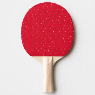 Lustiges Erdbeerhintergrundrot Tischtennis Schläger