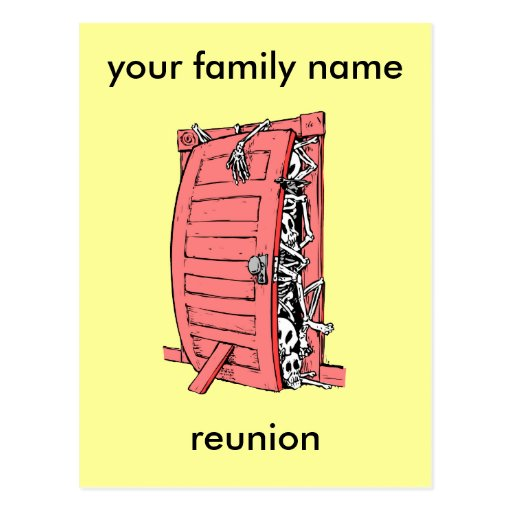 lustiges Familien-Wiedersehen Postkarten