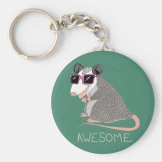 Lustiges fantastisches Opossum Standard Runder Schlüsselanhänger