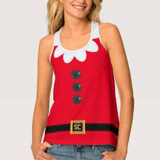 Lustiges festliches rotes tanktop