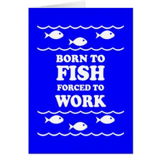 Lustiges Fischen Grußkarte