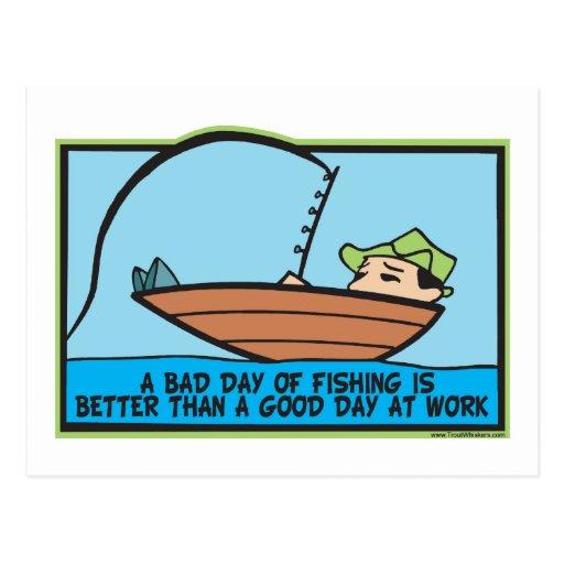 Lustiges Fischen Postkarten