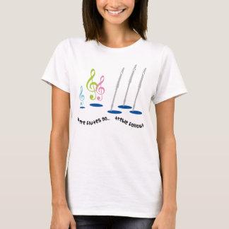 Lustiges Flötenspieler-Geschenk T-Shirt