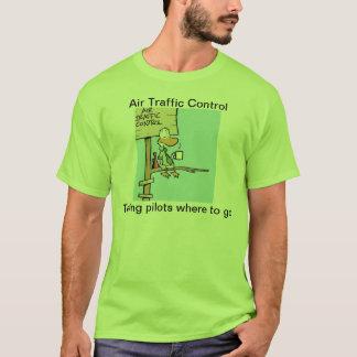 Lustiges Fluglotse-Cartoon-Shirt T-Shirt