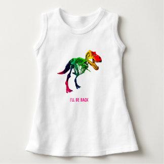 Lustiges Fossil des Regenbogen-T Rex mit Ihrem Kleid
