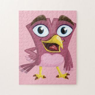 Lustiges Foto-Puzzlespiel des Vogel-11x14 mit Puzzle