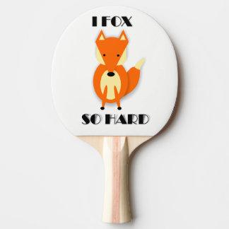 Lustiges Fox-CartoonPing Pong Paddel Tischtennis Schläger