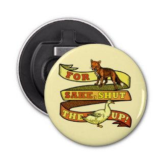 Lustiges Fox-Enten-Tier-Wortspiel Runder Flaschenöffner