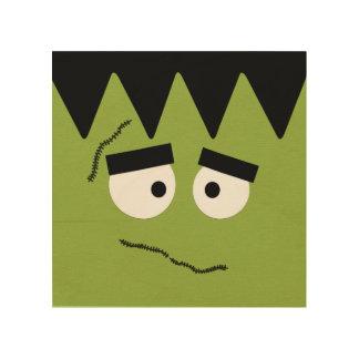 Lustiges Frankenstein stellen für Halloween Holzleinwand