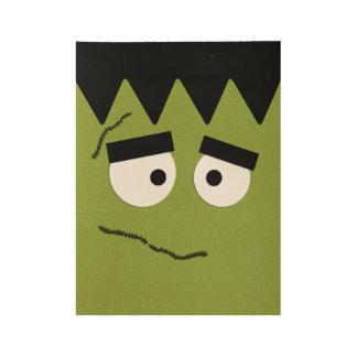 Lustiges Frankenstein stellen für Halloween Holzposter