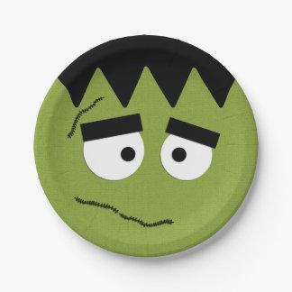Lustiges Frankenstein stellen für Halloween Pappteller