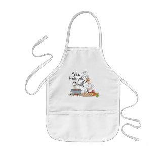 Lustiges französisches Kochs-Geschenk Kinderschürze