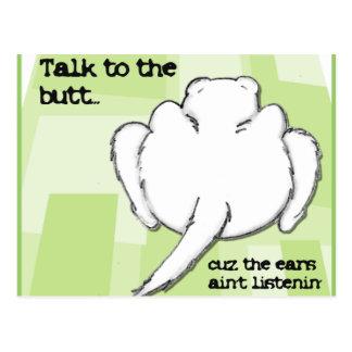 Lustiges Frettchen-Gespräch zum Hintern Postkarte
