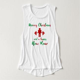 Lustiges frohe Weihnacht-Fitness-Turnhallen-Shirt Tank Top