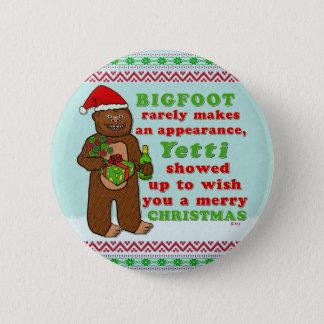 Lustiges frohe Weihnachten Bigfoots Sasquatch Runder Button 5,7 Cm