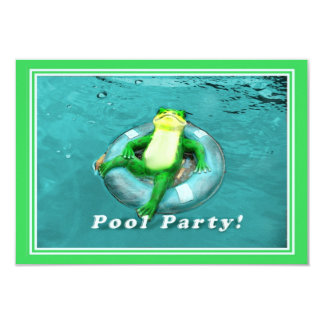Lustiges Frosch-Pool-Party 8,9 X 12,7 Cm Einladungskarte