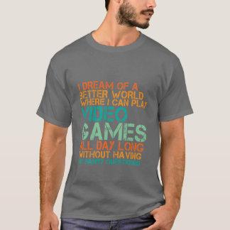 Lustiges Gamers-T - Shirt-Geschenk für Nerds und T-Shirt