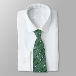 Lustiges Geeky Nerd-Computer-Leiterplatte-Muster Bedruckte Krawatte