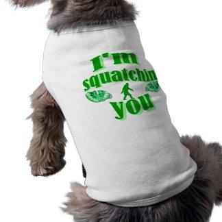 Lustiges gegangenes Squatching Ärmelfreies Hunde-Shirt