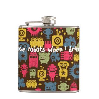 Lustiges Geschenk der Raum-Roboter-Flasche Flachmann