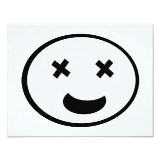 Lustiges Gesicht! 10,8 X 14 Cm Einladungskarte
