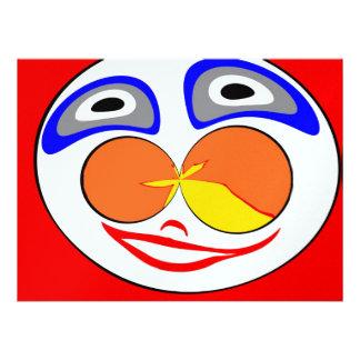 Lustiges Gesicht des Clowns Personalisierte Einladungen