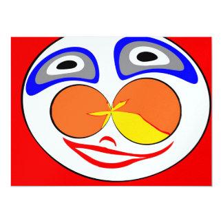Lustiges Gesicht des Clowns 16,5 X 22,2 Cm Einladungskarte